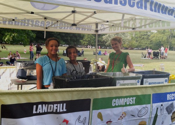 Bella and Solomon volunteered this year at Food Truck Friday in Tower Grove Park with Recycling On the Go. Seen here with ROG staff Jenny, the two helped kept the energy high in their Waste Station -- and it was contagious! You could feel the good vibes floating out into the crowd. Not only did they learn a lot, totally rock out as outstanding volunteers, but they got to meet tons of new people. And, perhaps, inspiring them to recycle too.